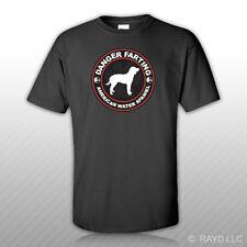 Danger Farting American Water Spaniel T-Shirt Tee Shirt Free Sticker dog canine