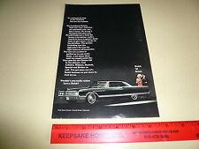 1965 Buick Electra 225 2 Door Black Hardtop - Ad/Advertisement - Vintage
