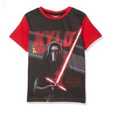 DISNEY t-shirt STAR WARS 4 6 8 ou 10 ans noir rouge manches courtes NEUF