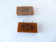 2 x Präzisions Mica- Glimmer Kondensator von Jahre nur 0,5% Tol. 250V, radial