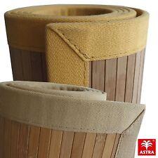 ASTRA Bambou Tapis avec Bordure bande Bonne Qualité ! Liquidations Stock Neuf
