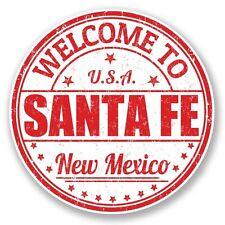 2 x SANTA FE NEW MEXICO USA Adesivo Vinile Portatile da Viaggio Bagaglio Auto #6001