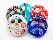 Millefiori Glas Anhänger Peace 50 mm verschiedene Farben SERAJOSY