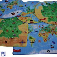 L'apprentissage ATLAS - Tapis de jeu Allemagne, Europe, carte du monde ou carré