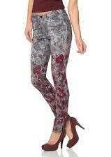 Laura Scott Damen Röhrenhose Hose Röhre Jeans Schlangen-Muster Stretch 334010