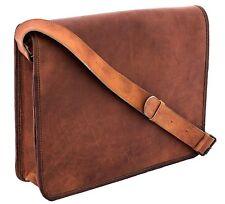 Leather Vintage Messenger Man Business Laptop Brown Briefcase Women Satchel Bag