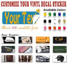 Custom Vinyl Decal Sticker Name Phrase Lettering Car Wall Window Laptop Ipad Art