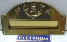 Placca Postale Buca porta Lettere della Posta OTTONE per Portalettere Cassetta