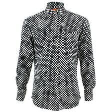 Herren Loud Shirt Regular Fit Shapes schwarz Retro Psychedelic Fancy