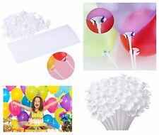 10-100 Set 16.5inch Latex Balloon Sticks Cups White Birthday Wedding Party Favor