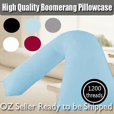 1200TC Egypt Cotton Boomerang V-shape Maternity Pillowcase  White/Grey/Black