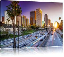 Straßenverkehr in Los Angeles Leinwandbild Wanddeko Kunstdruck