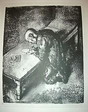 A. PAUL WEBER, Lithographie 1966, signiert, Der Gefangene (Der Brief)