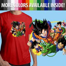 Anime Gohan Goku Shenlong Vegeta Trunks Unisex Mens Tee Crew T-Shirt