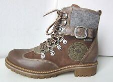 Tamaris Schnürstiefel Boots Warm braun grau Gr. 38 Duo-Tex Stiefel brown