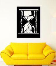 Wall Decal Hourglass Clock Time Symbol Sand Sandglass Mural Vinyl Decal (ed398)