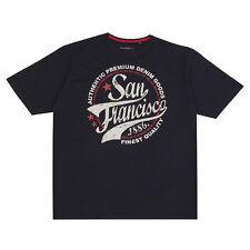 Da Uomo Cargo Bay San Francisco Girocollo T-shirt EXTRA LARGE PLUS / grandi dimensioni