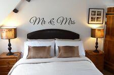 MR & MRS Wall Art Sticker Amore Camera Da Letto Arredamento Coppia di Novelli Sposi Matrimonio Regalo