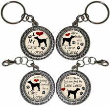 Cane Corso Dog Key Ring Key Chain Purse Charm Zipper Pull Handmade #2