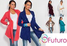 Razonable para mujer maternidad Cardigan elástico suave Manto chaqueta de estilo fa67