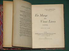 En marge des vieux livres contes Jules LEMAÎTRE  1906