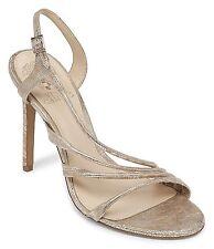 Vince Camuto Tiernan Snake Slingback Dress Sandals, Sizes 9-10 Natural Metallic