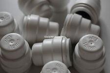 Speedfit 15mm Pushfit Copper or Plastic Stopend Cap PSE4615W Stop End - White