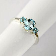 Ring aus Silber 925 mit echten Blautopasen / Sterlingsilber