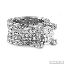 13.4 Carat Platinum Tone Silver VVS Flawless Luxury Ring