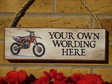 Fatto a mano segno KTM HUSQVARNA segno YAMAHA segno OFF ROAD BIKE MOTO DA CROSS MOTO CROSS