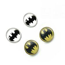 Batman Superhero Earring Studs Steel Bat Logo Ear Piercing Pin  6.5mm