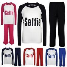 "Enfants Filles Garçons Pyjama """" #Selfie """" Imprimé Stylé Pyjama Neuf 5-13 Ans"