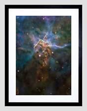 HUBBLE SPACE TELESCOPE MYSTIC MOUNTAIN BLACK FRAMED ART PRINT B12X2372
