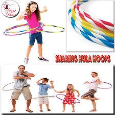 Hula Hoops Multi Colores Rayas Interior Fuera Puerta Fitness Gimnasia Play 55/75CM