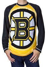 NHL Boston Bruins Men's Long Sleeve Rash Guard T-Shirt