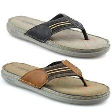 Mens Slip On Toe Post Sandals Summer Beach Walking Flip Flop Mules Shoes Size