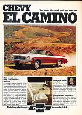 1974 Chevrolet El Camino Conquista -  Classic Vintage Advertisement Ad A63-B