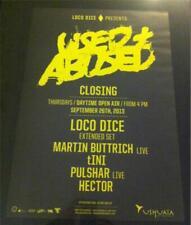 LOCO DICE USED & ABUSED @ USHUAIA - IBIZA CLUB POSTERS - 2013 - TECHNO MUSIC
