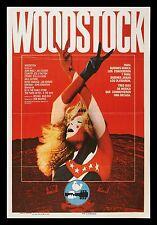 0280 VINTAGE MUSICA poster arte WOODSTOCK * GRATIS POSTER
