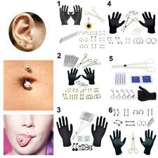 Professional Body Piercing Tool Kit Ear Nose Navel Eyebrow Lip Nose Needles Set-