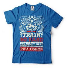 Train Hard T-Shirt Workout GYM Motivation Tee Shirt
