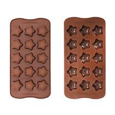 Bandeja De Hielo/Chocolate Molde De Silicona Para Pasteles Sugarcraft// cupcakes-Estrellas
