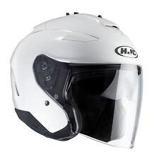 HJC IS-33 DVS Open Face Motorbike Motorcycle Helmet White Plain White Mod Retro