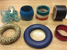 John Lewis Set of 4 NAPKIN RINGS holders 7 designs table decoration cloth