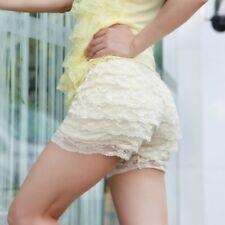 Women Frilly Lace Ruffle Knicker Panties Underwear Shorts Bloomer Brief Lingerie