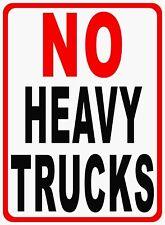 No Heavy Trucks Sign. Size Options.  No Large Truck Trucks