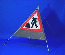 Quazar Roll Up men at Work Sign