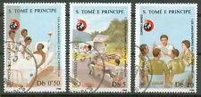 Sao Tome & Principe, Rotes Kreuz  1072 - 1074 gest.