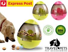 Pets Dog Ball Food Dispenser Dispensing Tumbler Feeder Puzzle Treat Ball Toys AU