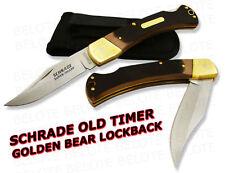 Schrade Old Timer DELRIN Golden Bear Lockback Knife 6OT